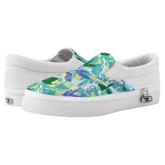 Algae Seaweed Ocean Sea Blue Green Water Nautical Slip On Shoes