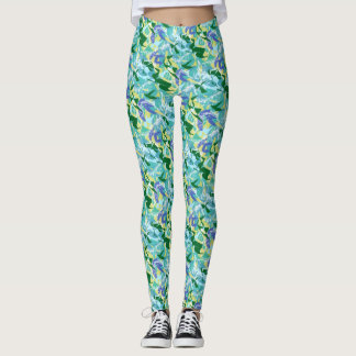 Algae Seaweed Ocean Water Aqua Blue Green Sea Cool Leggings