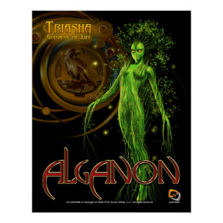 Alganon Triasha Deity Poster