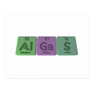 Algas-Al-Ga-S-Aluminium-Gallium-Sulfur Postcard
