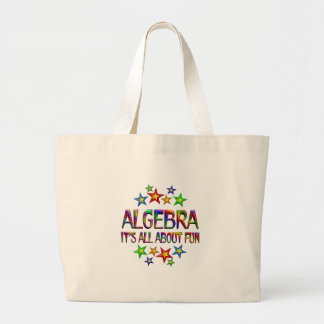 Algebra About Fun Large Tote Bag