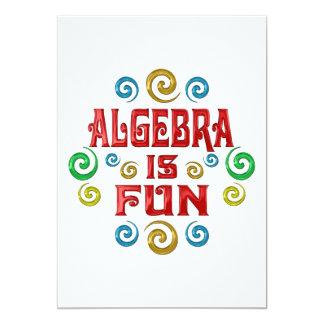 """Algebra is FUN 5"""" X 7"""" Invitation Card"""