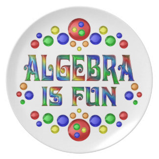 Algebra is Fun Plate