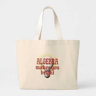 Algebra Makes You Bright Large Tote Bag