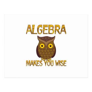 Algebra Makes You Wise Postcard