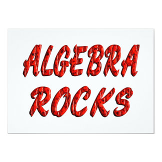 "Algebra ROCKS 5"" X 7"" Invitation Card"