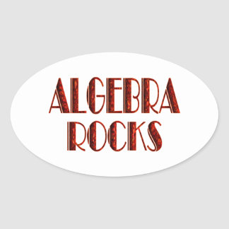 Algebra Rocks Oval Sticker