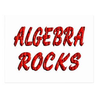 Algebra ROCKS Postcard