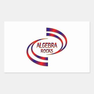 Algebra Rocks Rectangular Sticker