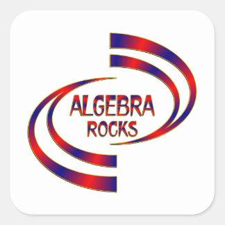 Algebra Rocks Square Sticker