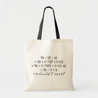 Algebra Why Should I Care Humor Tote Bag