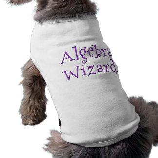 Algebra wizard sleeveless dog shirt