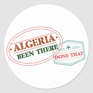 Algeria Been There Done That Classic Round Sticker