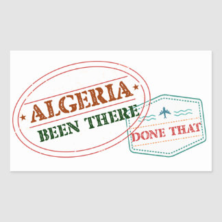 Algeria Been There Done That Rectangular Sticker