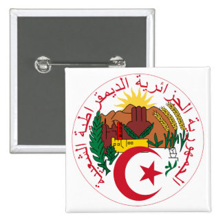 Algeria Coat of Arms Button