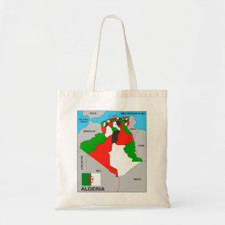 algeria country political map flag tote bag
