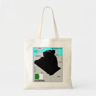 algeria country political map flag tote bags