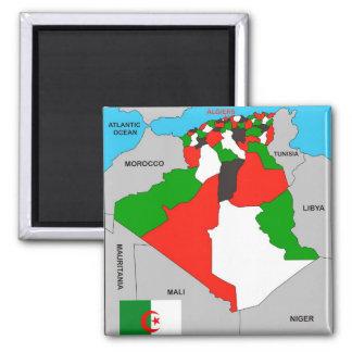 algeria country political map flag magnet