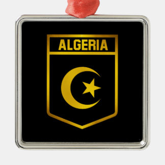 Algeria Emblem Silver-Colored Square Decoration