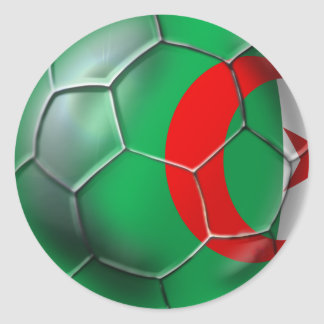 Algeria flag Algerian soccer ball gifts Classic Round Sticker