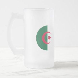 Algeria Flag Frosted Glass Beer Mug