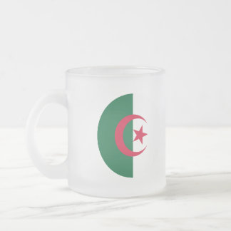 Algeria Flag Frosted Glass Coffee Mug