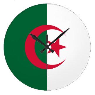 Algeria Flag Large Clock