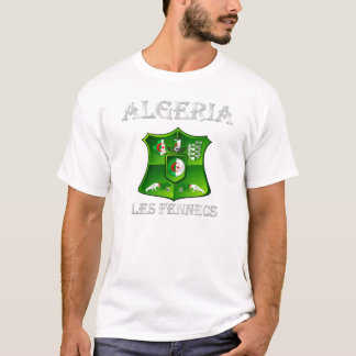 Algeria flag Les Fennecs Soccer Football shield T-Shirt