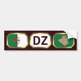 Algeria Flag Map Code Bumper Sticker