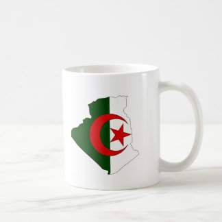 Algeria flag map coffee mug