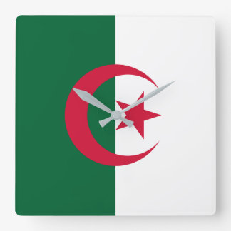 Algeria Flag Square Wall Clock