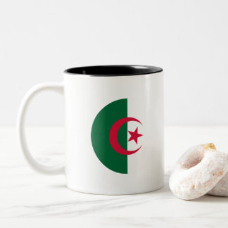 Algeria Flag Two-Tone Coffee Mug