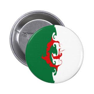 Algeria Gnarly Flag Pinback Buttons