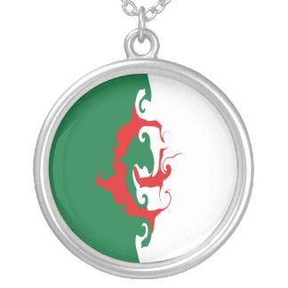Algeria Gnarly Flag Round Pendant Necklace