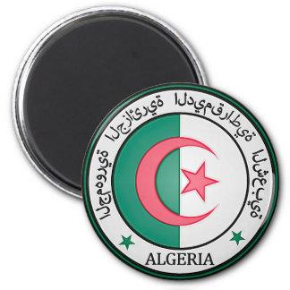 Algeria  Round Emblem Magnet