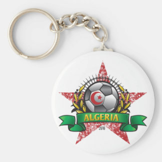 Algeria World Cup Soccer Basic Round Button Key Ring
