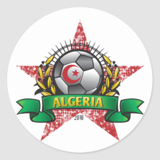 Algeria World Cup Soccer Round Sticker
