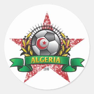 Algeria World Cup Soccer Round Sticker