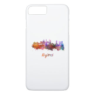 Algiers skyline in watercolor iPhone 8 plus/7 plus case