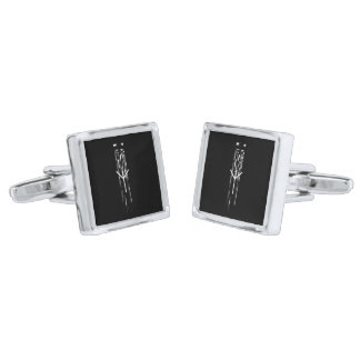 ☼ Algiz - the Rune of Protection ☼ Silver Finish Cufflinks