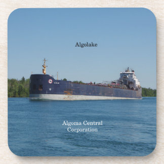 Algolake set of 6 hard plastic coasters