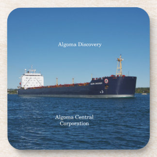 Algoma Discovery set of 6 hard plastic coasters