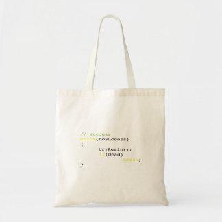 Algorithm of success tote bag