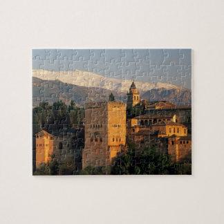 Alhambra; Granada; Andaslusia, Spain, Sierra Jigsaw Puzzle