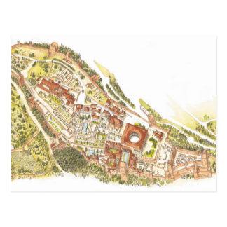 Alhambra Granada Spain. Aerial view Postcard