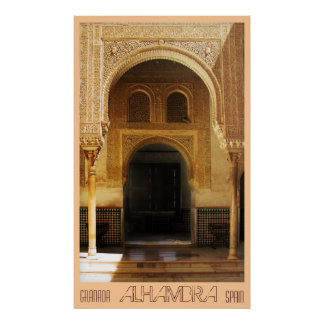 Alhambra, Granada, Spain Poster