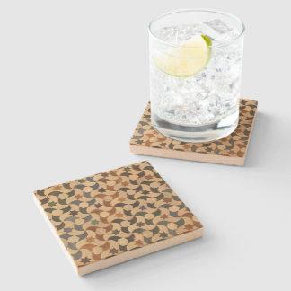 Alhambra Star Mosaic Warm-Hue Stone Coaster
