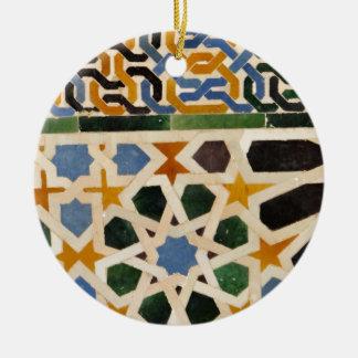 Alhambra Wall Tile #3 Ceramic Ornament