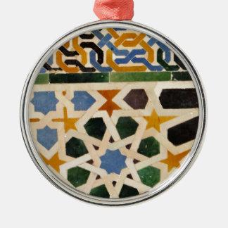 Alhambra Wall Tile #3 Metal Ornament