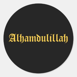 Alhamdulillah Classic Round Sticker